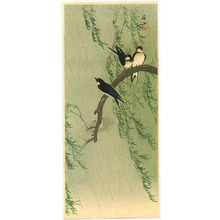 Ito Sozan: Barn Swallows and Willow - Artelino