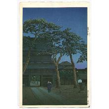 川瀬巴水: Sengaku Temple - Artelino