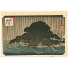 Utagawa Hiroshige: Night Rain - Omi Hakkei no Uchi - Artelino