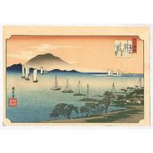 歌川広重: Boats Sailing - Ohmi Hakkei no Uchi - Artelino