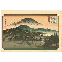 Utagawa Hiroshige: Evening Bell - Ohmi Hakkei no Uchi - Artelino