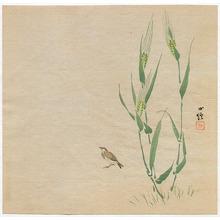 Hasegawa Konobu: Sparrow and Wheat - Artelino