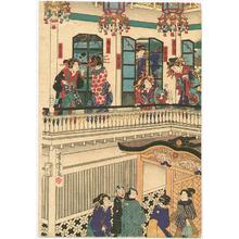 Utagawa Yoshitora: Courtesans in Western Villa - Artelino