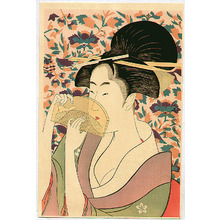 喜多川歌麿: Woman with Comb - Artelino