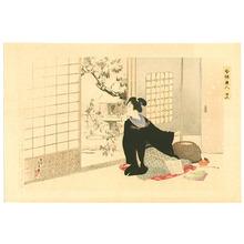Mizuno Toshikata: Snowy Garden - Imayo Bijin - Artelino