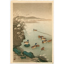 Ohara Koson: Pond in Late Autumn - Artelino