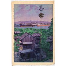 笠松紫浪: Yokohama Harbor - Artelino