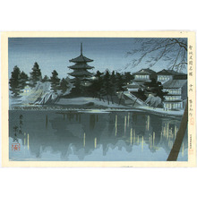 Tokuriki Tomikichiro: Sarusawa Pond - Famous Historic Places and Holy Places - Artelino