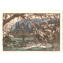 Yoshida Hiroshi: Spring in a Hot Spring - Artelino