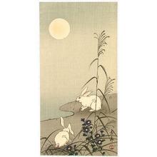 Imao Keinen: Two Rabbits in the Moonlight - Artelino