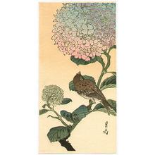 Yoshimoto Gesso: Sparrow and Hydrangea - Artelino