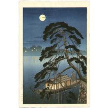 古峰: Moonlit Pine and Pleasure Boat - Artelino