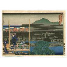 Hasegawa Sadanobu: Cooling Off at Shijo River - Famous Places of Kyoto - Artelino