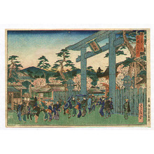 Hasegawa Sadanobu: Torii Gate at Gion - Famous Places of Kyoto - Artelino