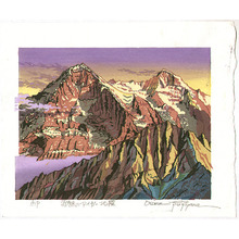 Morozumi Osamu: Sunset at Northwall of Mt. Eiger - Switzerland - Artelino