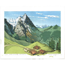 両角修: View of Mt.Eiger from a Pass - Switzerland - Artelino