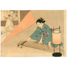 Mizuno Toshikata: Samurai and Koto player - Artelino