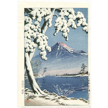 川瀬巴水: Mt Fuji after the Snow - Artelino