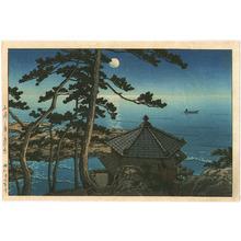 川瀬巴水: Moon over Izura - Artelino