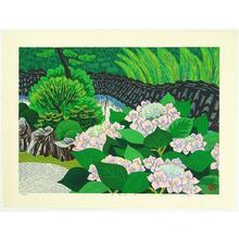 Hayashi Waichi: Hydrangea in Japanese Garden - Artelino