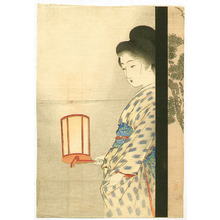 Takeuchi Keishu: Beauty with Lantern - Artelino