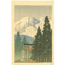 Kawase Hasui: Mt. Fuji and Red Torii - Artelino