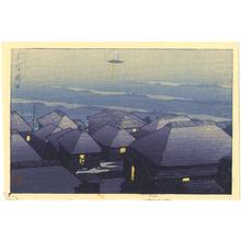川瀬巴水: Okada in the Evening - Artelino