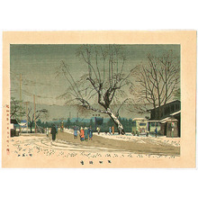Fujishima Takeji: Light Snow at Demachi District - Artelino
