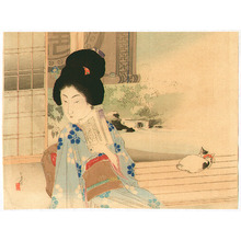 Mizuno Toshikata: Girl and Cat - Artelino