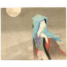 Takeuchi Keishu: Beauty in Blue Scarf - Artelino