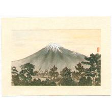 Tsukioka Kogyo: Mt. Fuji and Pine Trees - Artelino