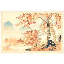 Domoto Insho: Red Maple Tree and Ohara-me - Artelino