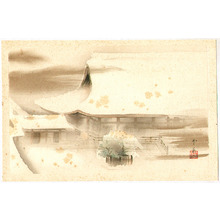 Domoto Insho: Snow Covered Temple - Artelino