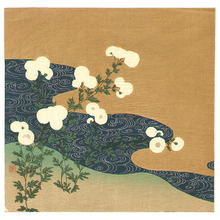 月岡耕漁: Flowers at a Stream - Artelino