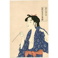 Kitagawa Utamaro: Beauty Smoking - Artelino