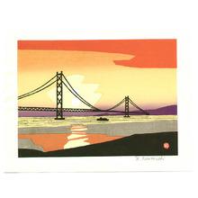 Kawanishi Yuzaburo: Akashi Bridge - Artelino