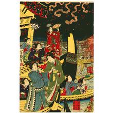 Utagawa Yoshitsuya: Summer Fireworks at Ryogoku - Artelino