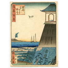 Utagawa Kunisada III: Light Tower at Sumiyoshi - Naniwa Hyakkei - Artelino