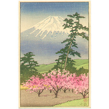川瀬巴水: Mt. Fuji and Sugukawa - Artelino
