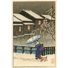 Kawase Hasui: Walk in the Snow - Artelino