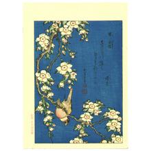 Katsushika Hokusai: Ballfinch on a Cherryy Tree Branch - Artelino