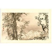Takeuchi Seiho: Mt. Fuji and Half Moon - Seiho Twelve Fuji - Artelino