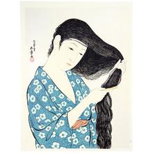 橋口五葉: Combing Hair - Kami Suki - Artelino