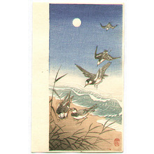 小原古邨: Birds Landing on a Seashore - Artelino