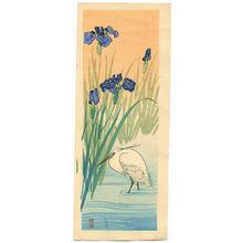 Ohara Koson: Iris and Egret - Artelino