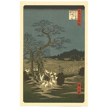 Utagawa Hiroshige: Fox Fire at Oji - One Hundred Famous Places of Edo - Artelino