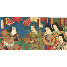豊原国周: War Helmet - Kabuki - Artelino