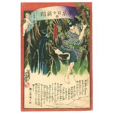 落合芳幾: Takida Ikuemon - Tokyo Nichinichi Shinbun - Artelino