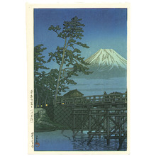 川瀬巴水: Mt. Fuji and kawai Bridge - Artelino