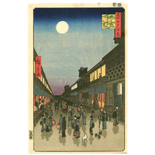Utagawa Hiroshige: Theater District - Meisho Edo Hyakkei - Artelino
